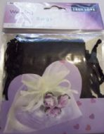 10 x Black Wedding Favour Organza Bags. 100mm x 75mm.